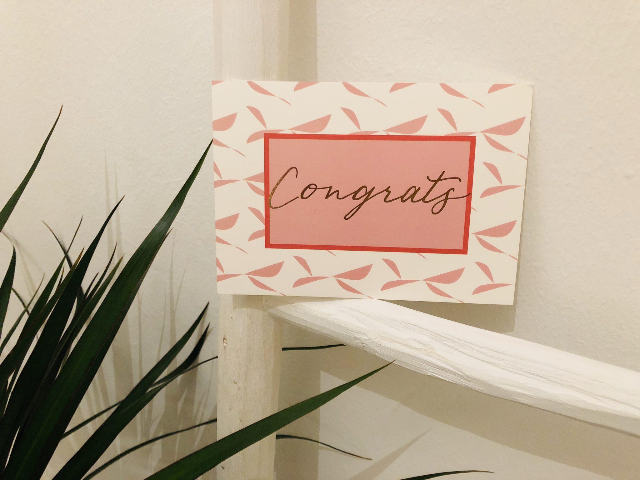 Grußkarte Congrats