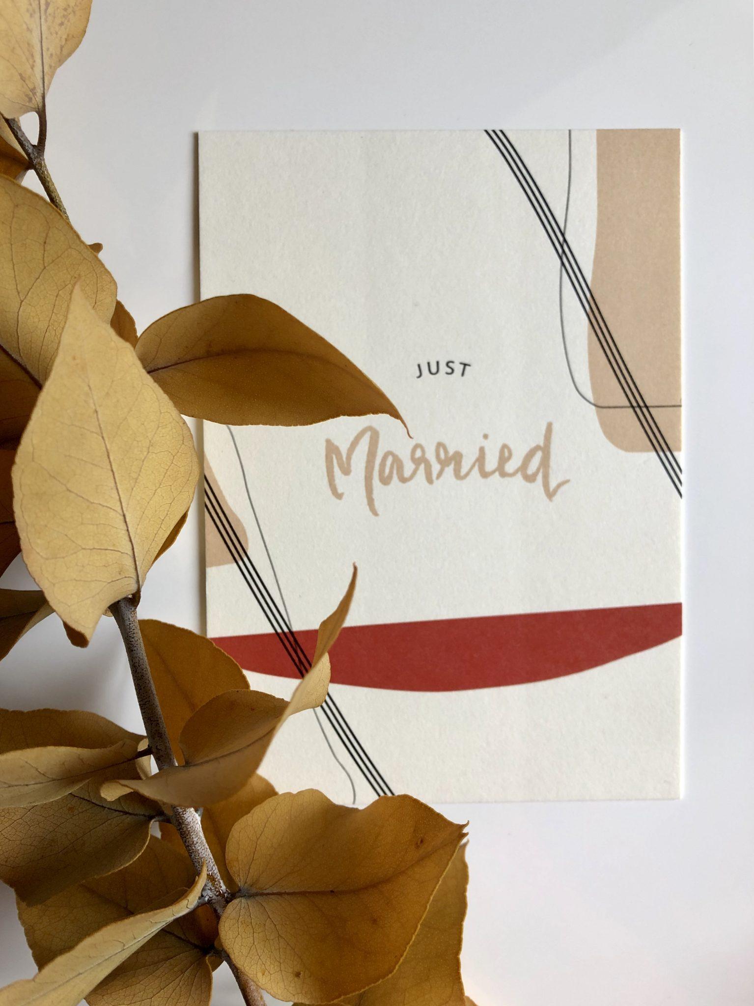 Grußkarte Just Married