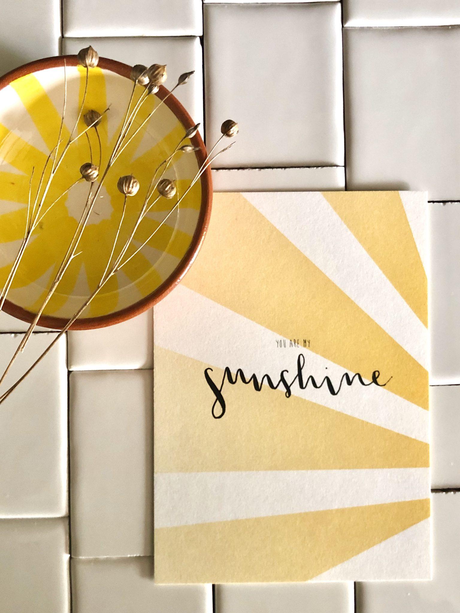 Grußkarte You Are My Sunshine