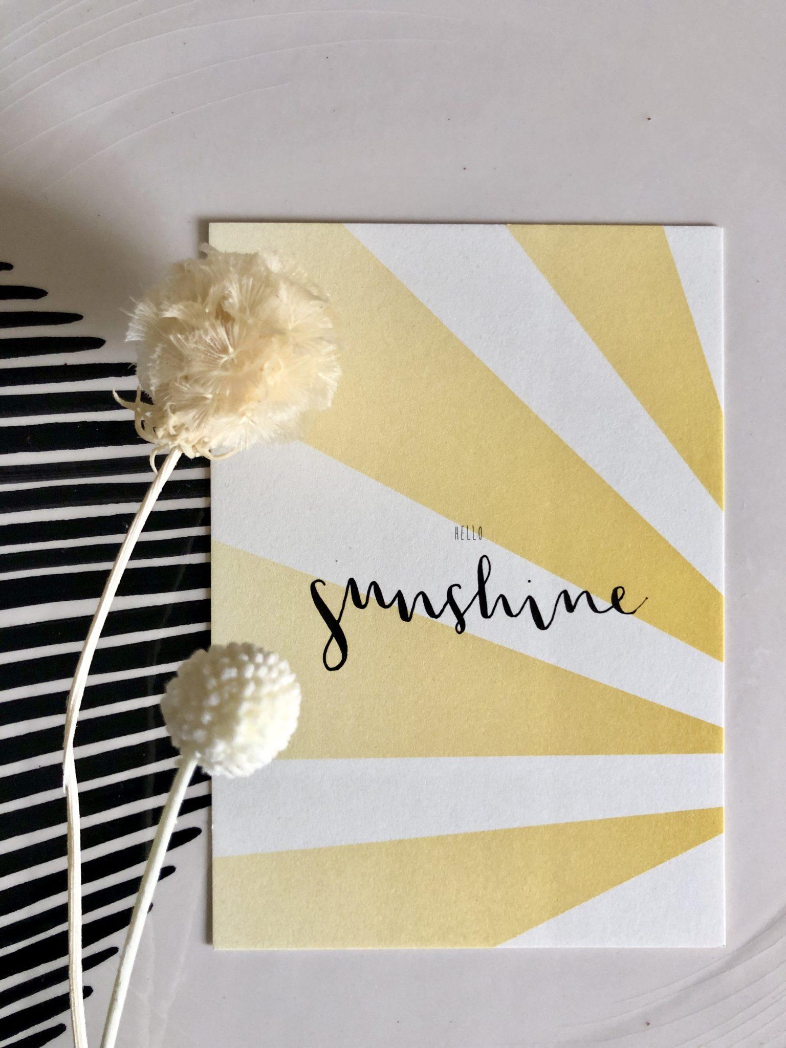 Grußkarte Hello Sunshine